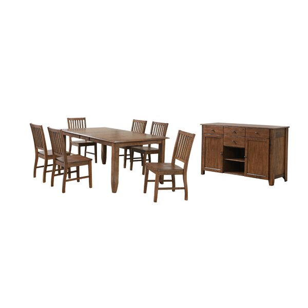 Huerfano Valley 8 Piece Extendable Dining Set by Loon Peak