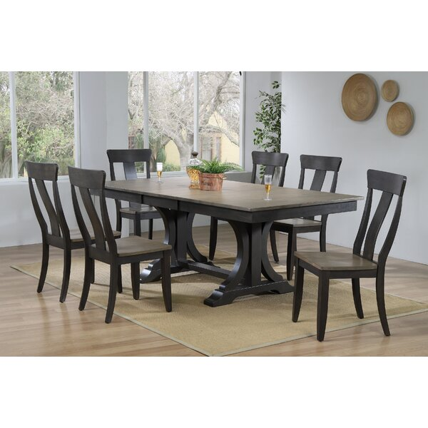 Therese 7 Piece Extendable Solid Wood Dining Set by Canora Grey