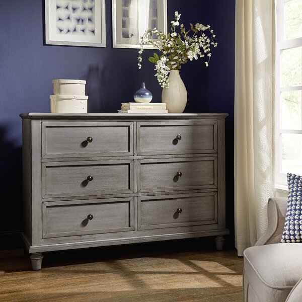 Faught 6 Drawers Double Dresser By Harriet Bee by Harriet Bee Find