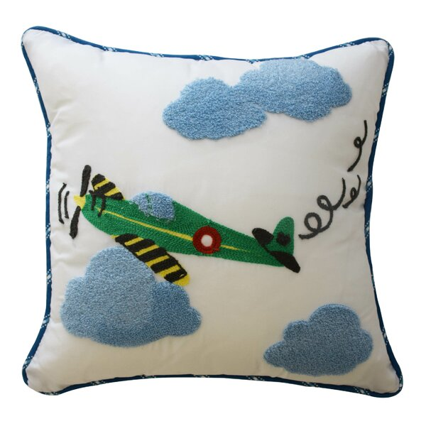 In The Clouds Airplane Throw Pillow by Waverly