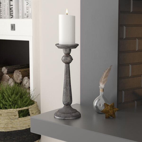 Galvanized Iron Candlestick by Ophelia & Co.