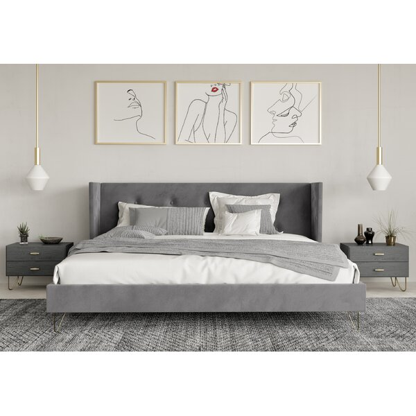 Herschel Upholstered Platform Bed by Everly Quinn