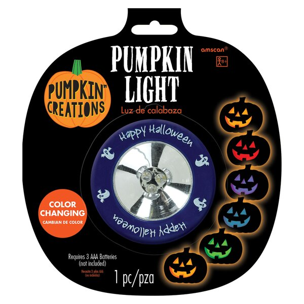 Halloween Color Changing Pumpkin Light by Amscan