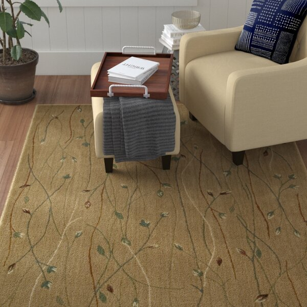 Heuser Hand-Woven Gold Area Rug by Winston Porter
