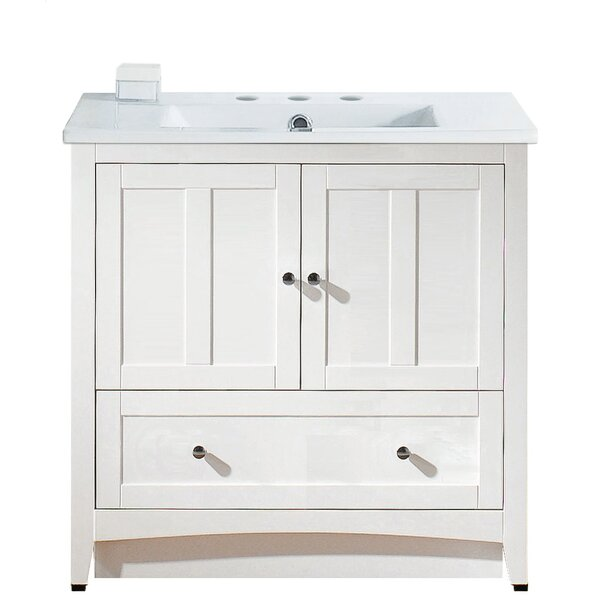 Artic 36 Plywood-veneer Single Bathroom Vanity Set by Longshore Tides
