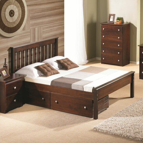 Hopkins Platform Bed with Drawers by Harriet Bee