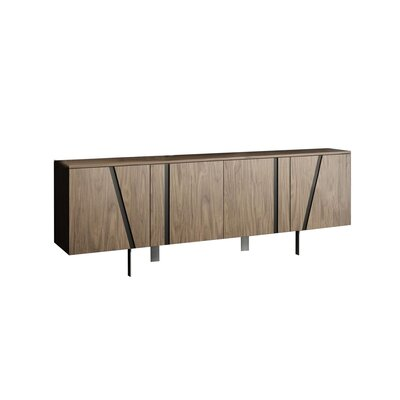 "Orren Ellis Alens 70.75"" Wide Maple Wood Sideboard"