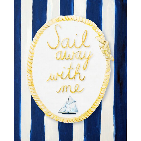 Nautical Sail Away with Me Giclée Canvas Art by Cici Art Factory