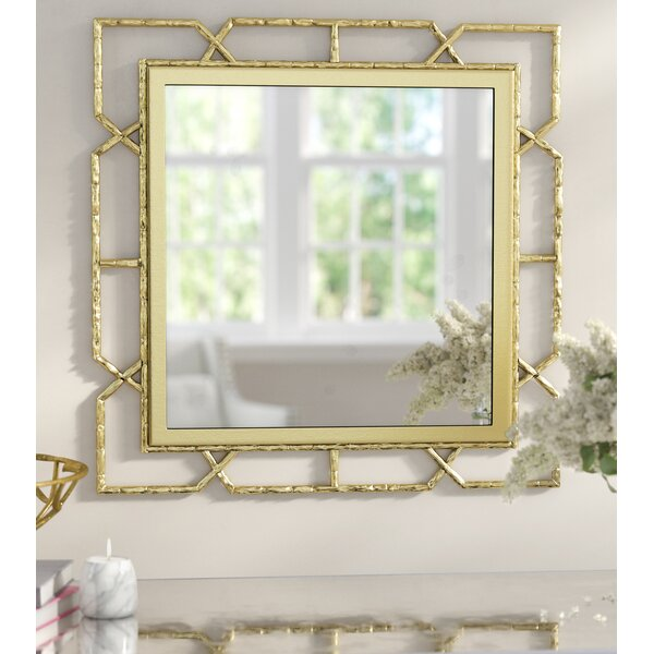 Deverick Gold Frame Wall Mirror by Willa Arlo Interiors