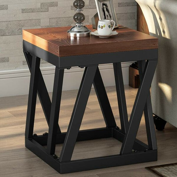 Nelida Rustic End Table by Union Rustic