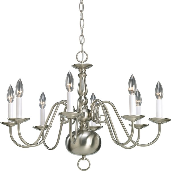 Doyle 8 - Light Candle Style Classic/Traditional Chandelier By Alcott Hill