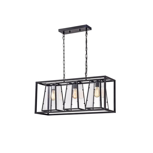 Bickel 3-Light Rectangle Chandelier By Williston Forge