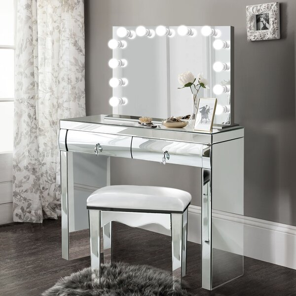 Tatianna Vanity Set with Mirror by Everly Quinn