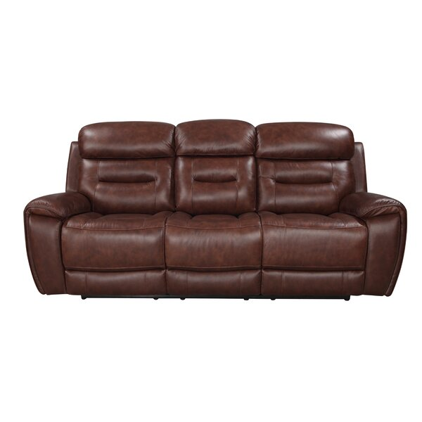 Lauer Leather Reclining Sofa by Ebern Designs