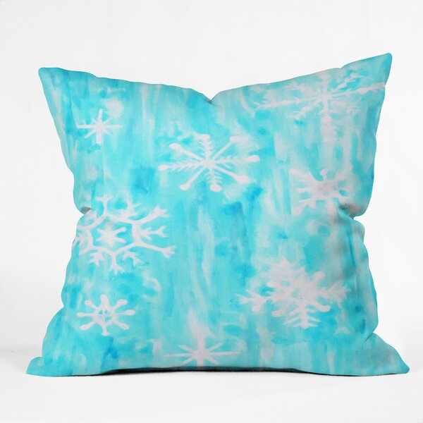Rosie Brown Snowing Throw Pillow by Deny Designs