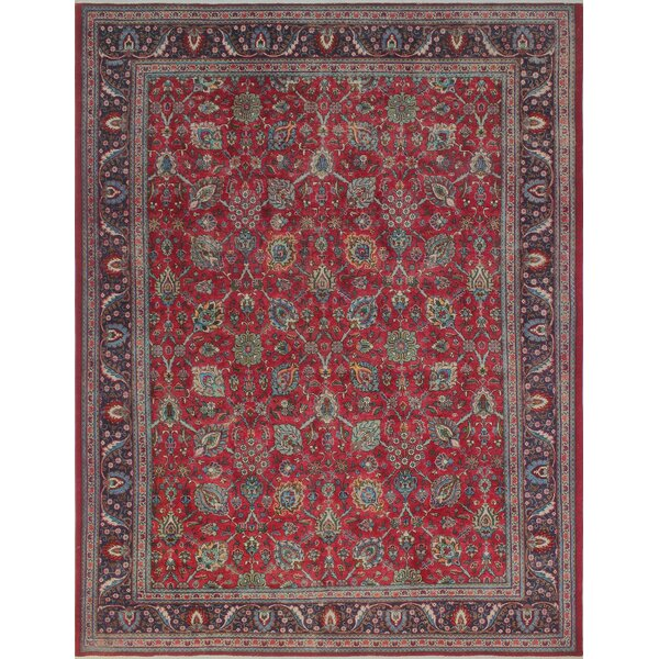 Creaser Vintage Distressed Hand Knotted Wool Red Area Rug by Canora Grey