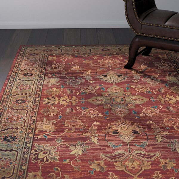 Rosabel Traditional Red/Green Area Rug by Bloomsbury Market
