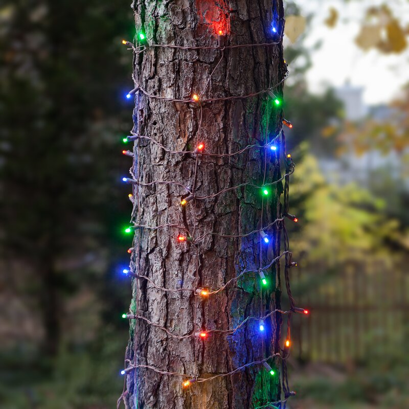 100 led christmas trunk wrap light