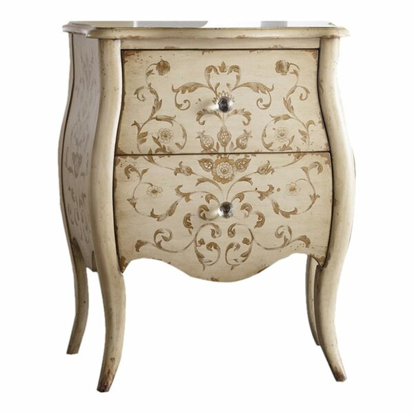 Melange Ariana Hand Painted 2 Drawer Chest by Hooker Furniture