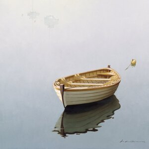 Boat Shadow Photographic Print on Wrapped Canvas by East Urban Home