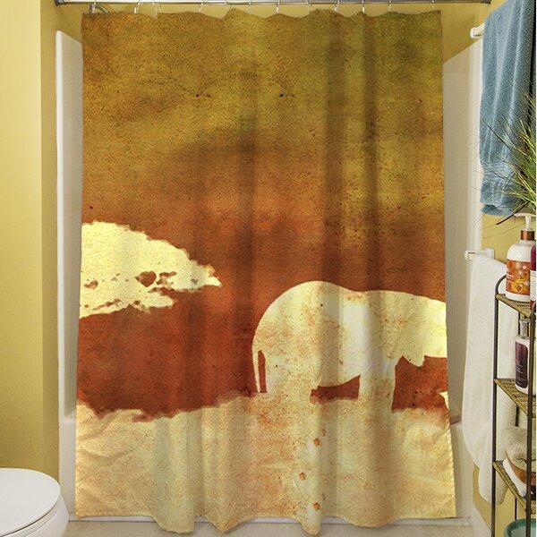 Safari Sunrise I Shower Curtain by Manual Woodworkers & Weavers