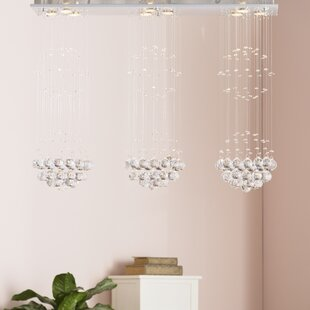 Reviews Robbe 9-Light  LED  Chandelier By Willa Arlo Interiors