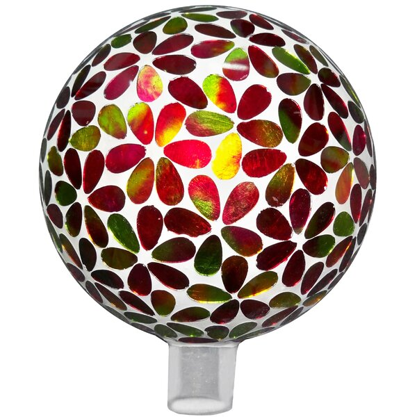 Mosaic Flower Glass Gazing Globe by Very Cool Stuff