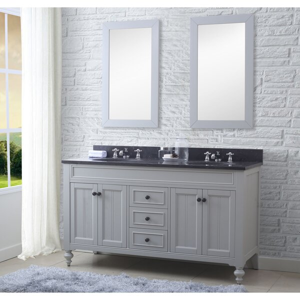 Cabery 60 Double Bathroom Vanity Set with Mirror by Darby Home Co