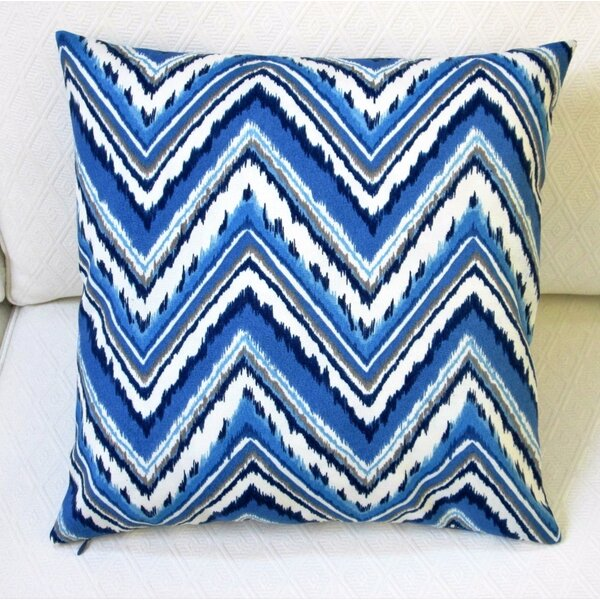 Chevron Zig Zag Outdoor Throw Pillow Cover (Set of 2) by Artisan Pillows