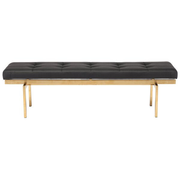 Louve Upholstered Bench by Nuevo
