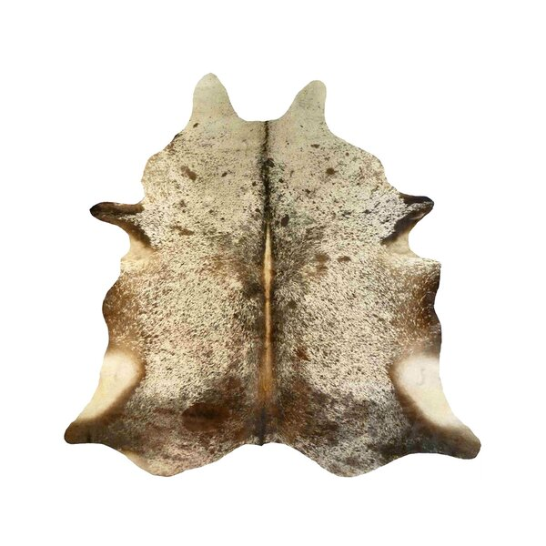 Durant Cowhide Brown/White Area Rug by Millwood Pines
