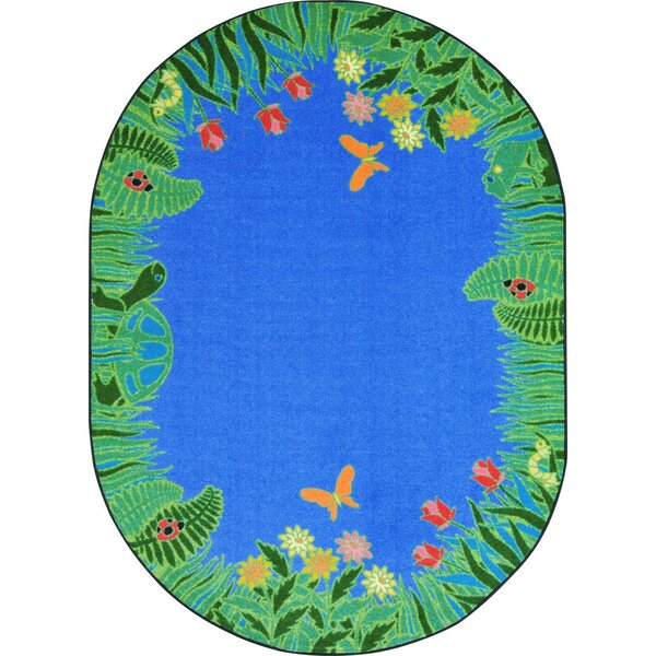Alpes Merry Meadows Blue Area Rug by Zoomie Kids