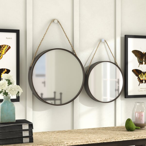 Galvanized 2 Piece Metal Wall Mirror Set by Laurel Foundry Modern Farmhouse