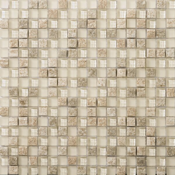 Lucente .6 x .6/12 x 12 Glass Stone Blend Mosaic Tile in Servolo by Emser Tile