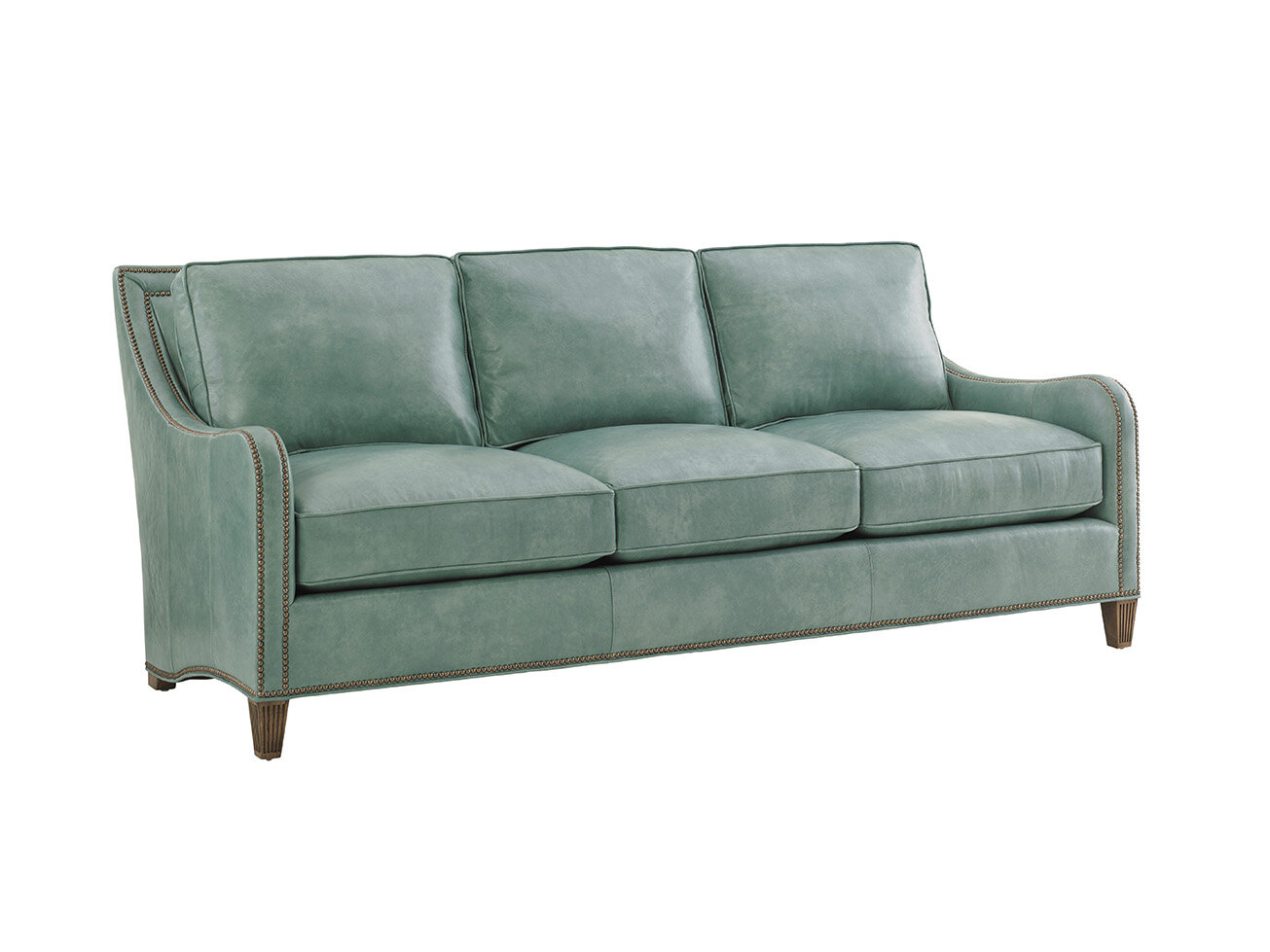 Tommy Bahama Home Twin Palms Leather Sofa Wayfair