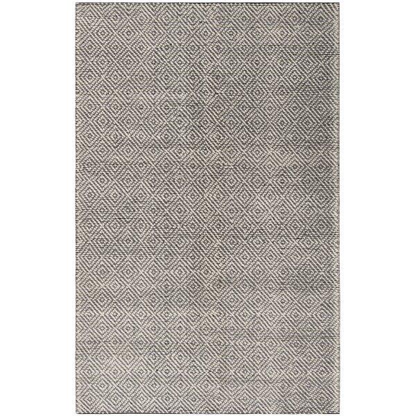 Matchett Hand-Woven Wool Ivory/Black Area Rug by Gracie Oaks