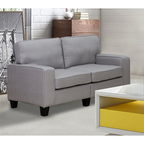 Charlee Linen Modern Living Room Loveseat by Winst