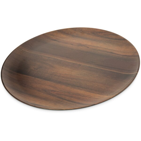 Epicure Melamine Acacia Grain Round Platter (Set of 2) by Carlisle Food Service Products