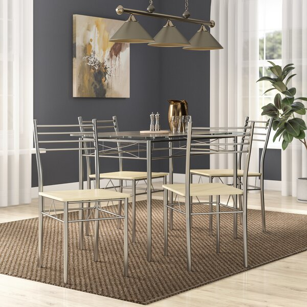 North Reading 5 Piece Dining Table Set by Zipcode Design