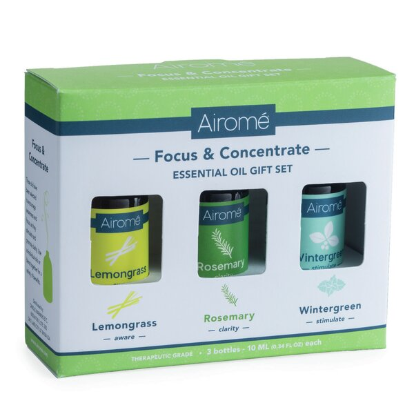 Focus and Concentrate 3 Piece Essential Oil by Candle Warmers, Etc.