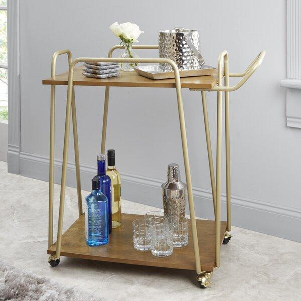 Rutz 2 Tier Hairpin Bar Cart by Wrought Studio