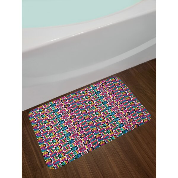 Checkered Colorful Bath Rug by East Urban Home