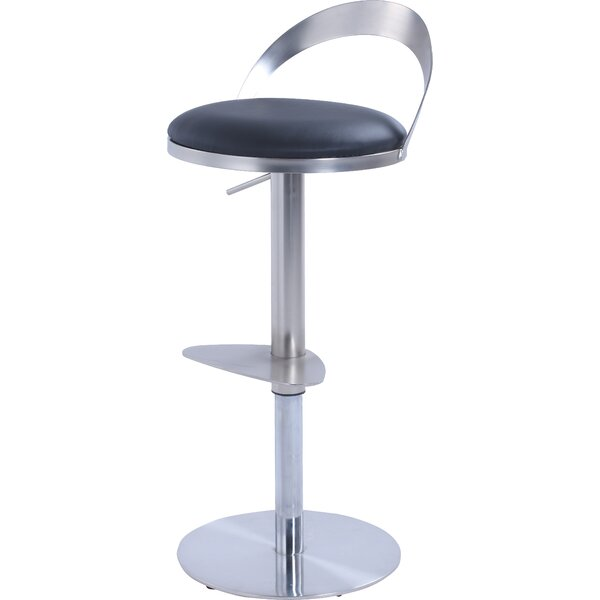 Germain Adjustable Height Bar Stool by Orren Ellis