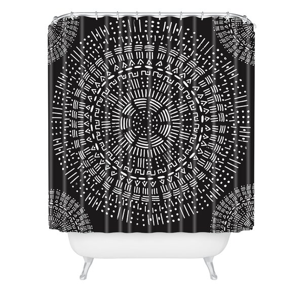 Zoe Wodarz Round and Round Shower Curtain by East Urban Home
