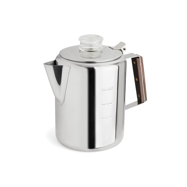 2-9 Cup Rapid Brew Stainless Steel Percolator by Tops