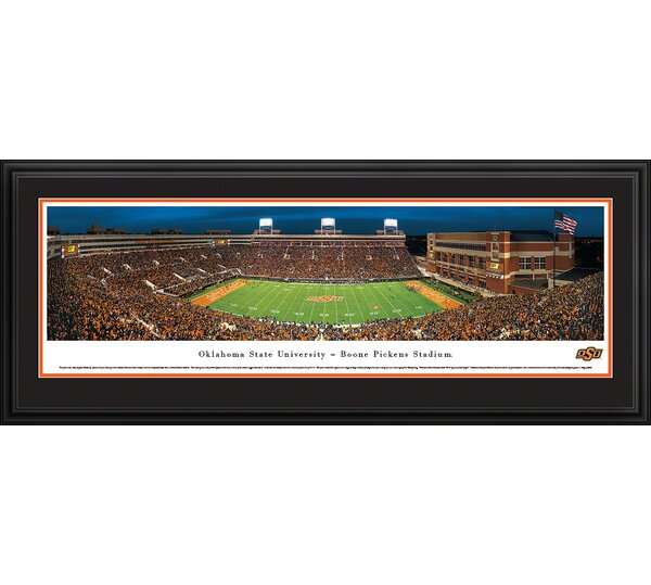 NCAA Oklahoma State University - 50 Yard Line by James Blakeway Framed Photographic Print by Blakeway Worldwide Panoramas, Inc