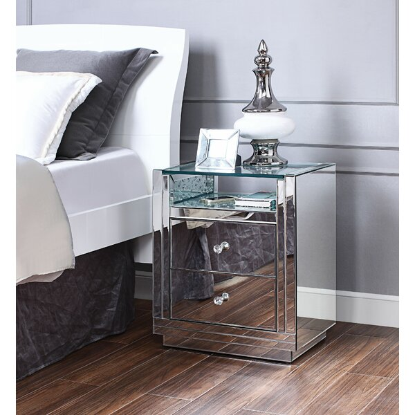 Ellert 2 Drawer Nightstand by Rosdorf Park