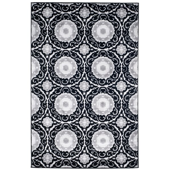 Royal Damask Black Area Rug by Lavish Home