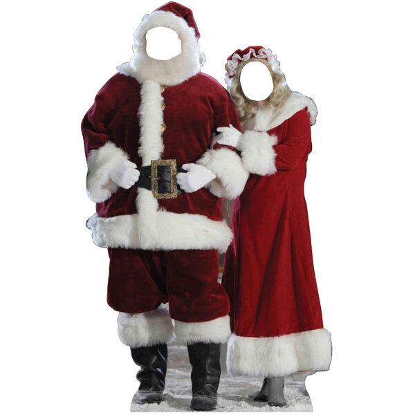 Christmas Santa & Mrs. Claus Stand-in Cardboard Stand-Up by Advanced Graphics