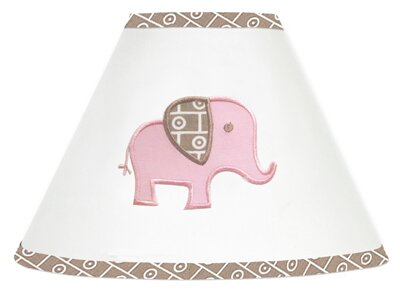 Elephant 7 Cotton Empire Lamp Shade by Sweet Jojo Designs